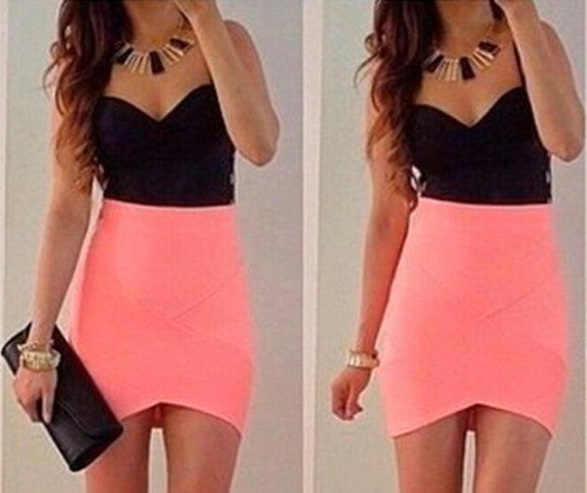 Fashion V-Neck Package Hip Dress
