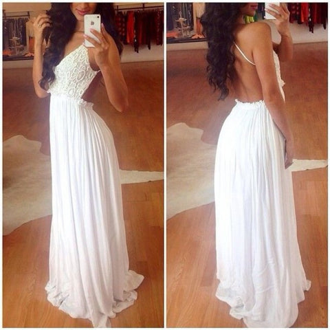 Sexy Floor Length Slim Simple Floor Length Party Dress