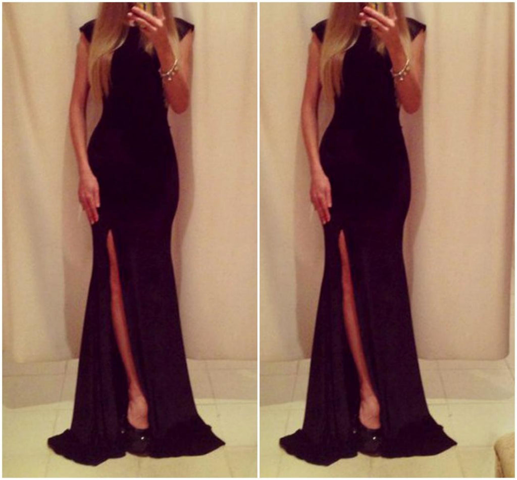 Cute And Classy Pure Black Long Dress