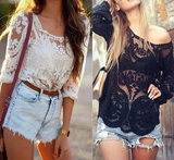 Openwork Lace Jacket Sunscreen Shirt
