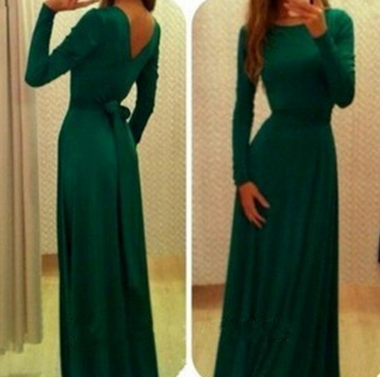 Slim Long-Sleeved Dress