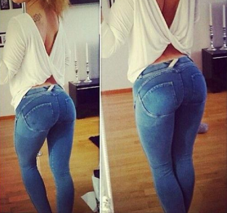 Sexy Hole Exposed Knee Jeans