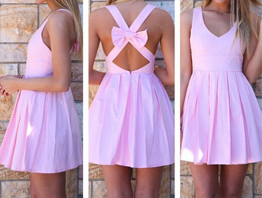 Sexy Halter Bow Dress