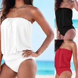 Swimwear Women Swimsuit Sexy Push Up Tankini Set Vintage Retro High Waisted Bathing Suits Summer Beach Wear