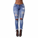 New arrival vintage ripped jeans for women plus size fashion new slim torn skinny jean ladieswear retrol female pants sale