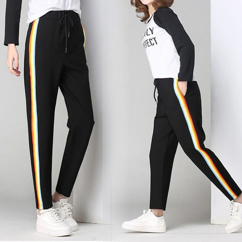 Casual zipper long pants