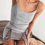 Fashion Sexy Spaghetti Strap One Piece Dress