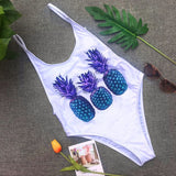 Fashion hot selling individual pineapple print swimsuit sexy bikini