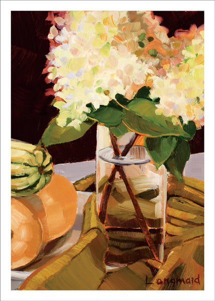 Autumn Hydrangeas by Kate Longmaid
