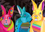Three Bold Bunnies
