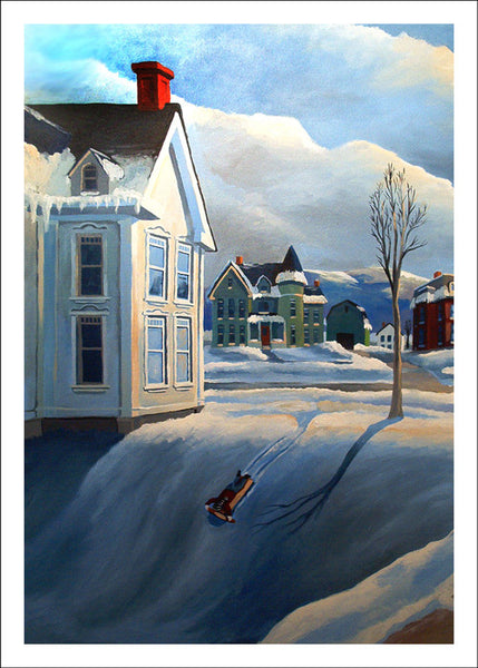 Sled Hill by Robert Waldo Brunelle, Jr.