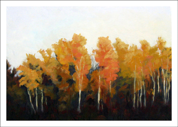 Sunset Birches, Shrine Road by Susan Larkin