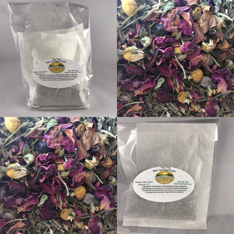 Bath Tea Bag with Lavender Bath Salts - (3 bags)