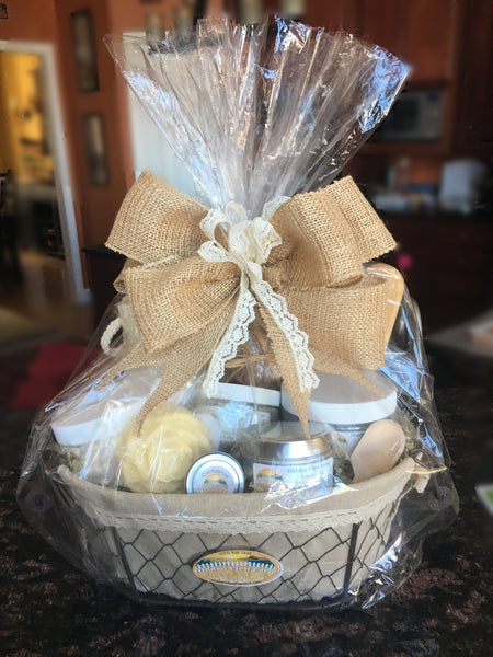 Custom Gift Baskets and Bags (Place order and contact me to customize or stop by)