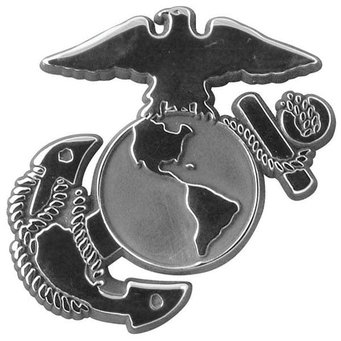 United States Marine Corps Logo Chrome Automobile Emblem