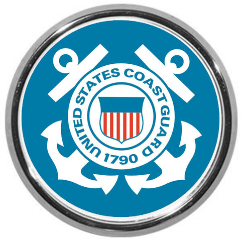 U. S. Coast Guard USCG DOD Logo Chrome Automobile Emblem