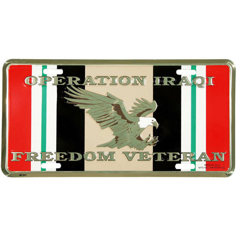 Operation Iraqi Freedom OIF Metal License Plate (LOIF)