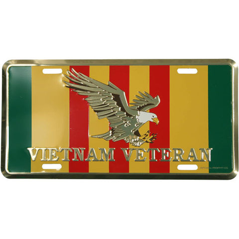 Vietnam Veteran Metal License Plate (LVVE)