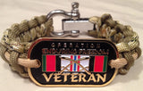Operation Enduiring Freedom OEF Veteran Paracord Survival Bracelet