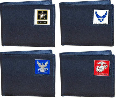 Military Veteran Bi-Fold Leather Wallet