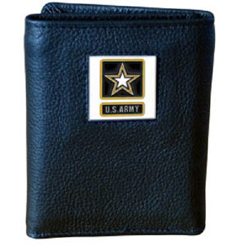 U. S. Army Tri-Fold Leather Wallet USA Veteran