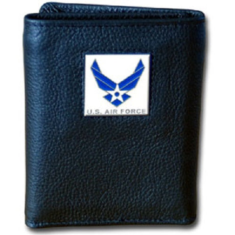 U. S. Air Force Tri-Fold Leather Wallet USAF Veteran