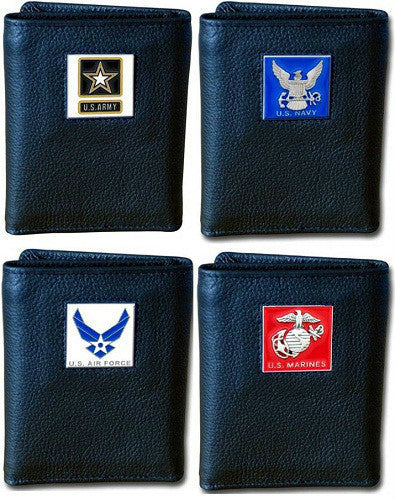 Military Veteran Tri-Fold Leather Wallet