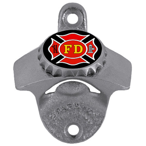 Fire Fighter Wall Mounted Bottle Opener