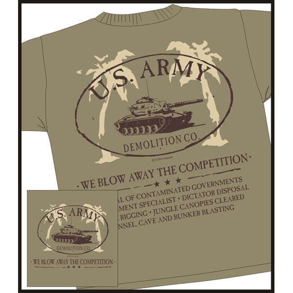 U. S. Army Demolition Co. T-Shirt Army Veteran