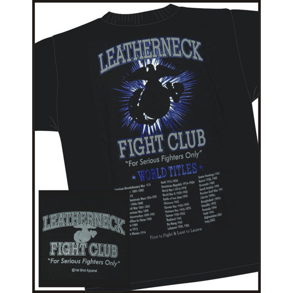 Leatherneck Fight Club U. S. Marine Corps T-Shirt USMC Veteran