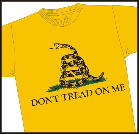 """Don't Tread On Me"" Gadsen Flag Patriotic T-Shirt"