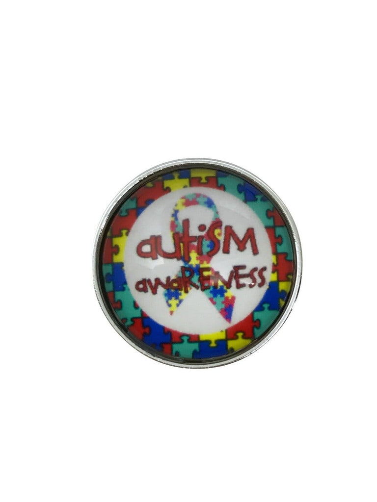 Autism Awareness Snap Charms-20mm for Snap Jewelry