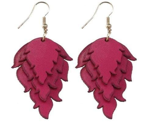 High Fashion Leather Earrings