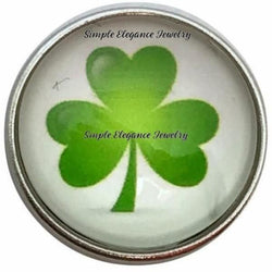 3 Leaf Clover Snap 20mm for Snap Jewelry - Snap Jewelry
