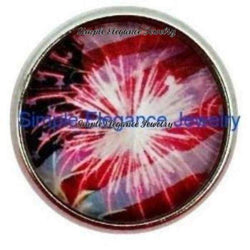 4th of July Fireworks Snap 20mm for Snap Jewelry - Snap Jewelry