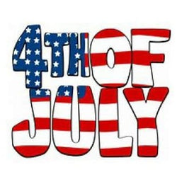 4th of July Holiday Snap Charm 20mm for Snap Jewery - Snap Jewelry