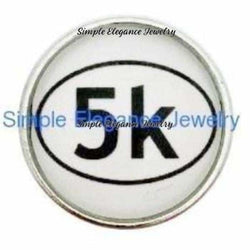 5K Runner Snap 20mm for Snap Charm Jewelry - Snap Jewelry