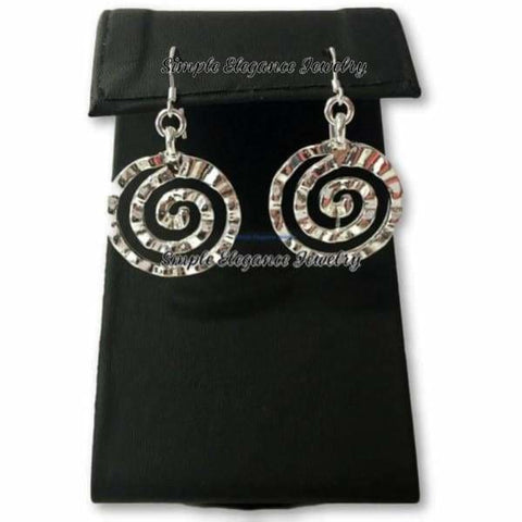 .925 Silver Sun Symbol Earrings - Earrings