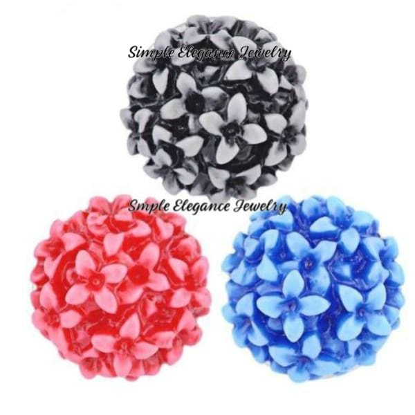 Acrylic Bubble Flower Snap 20mm - Snap Jewelry