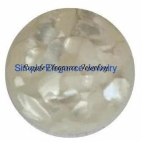 Acrylic Cream Marbled Snap 18mm - Snap Jewelry