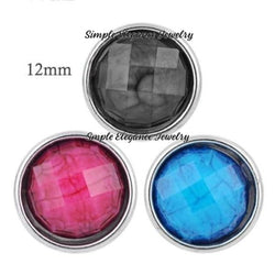 Acrylic Faceted Mini Snaps 12mm for Snap Jewelry - Snap Jewelry
