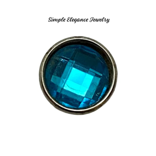 Acrylic Faceted MINI Snaps 12mm Snap Charms - Blue - Snap Jewelry