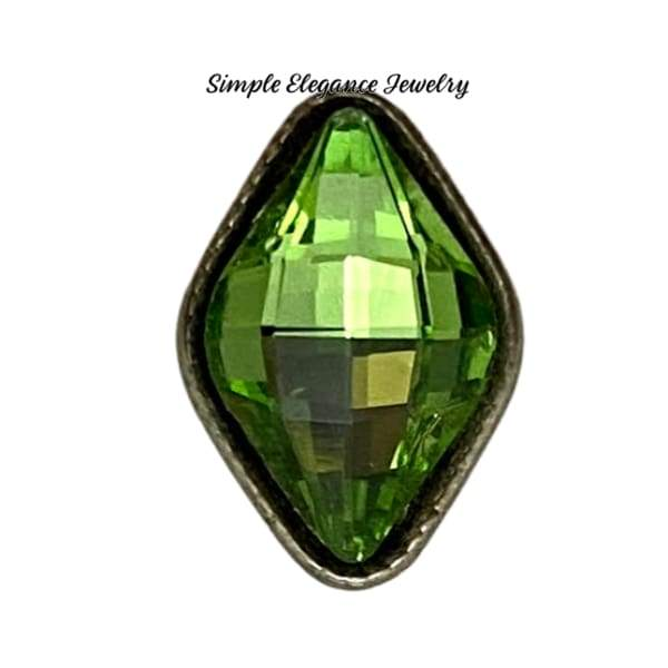 Acrylic Faceted MINI Snaps 12mm Snap Charms - Green - Snap Jewelry