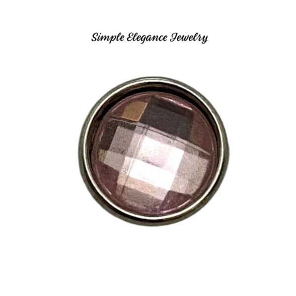 Acrylic Faceted MINI Snaps 12mm Snap Charms - Pink - Snap Jewelry