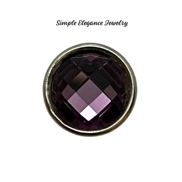 Acrylic Faceted MINI Snaps 12mm Snap Charms - Purple - Snap Jewelry