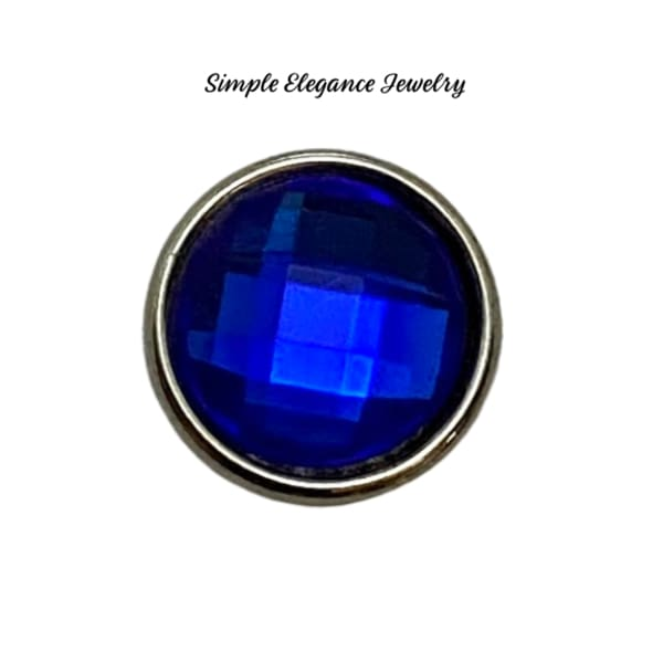 Acrylic Faceted MINI Snaps 12mm Snap Charms - Royal Blue - Snap Jewelry