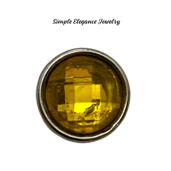 Acrylic Faceted MINI Snaps 12mm Snap Charms - Yellow - Snap Jewelry