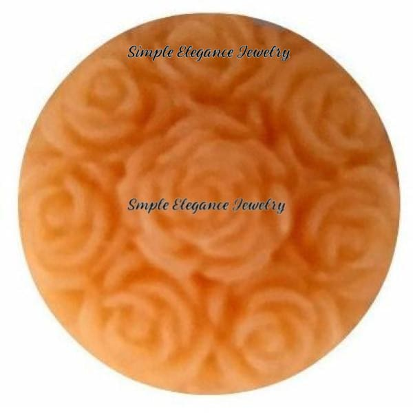 Acrylic Melon Rose Snap 20mm for Snap Jewelry - Snap Jewelry