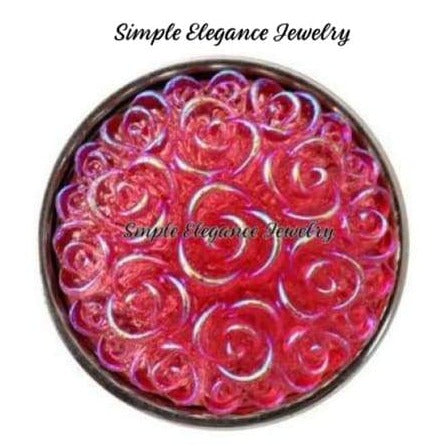 Acrylic Rose Snap 18mm for Snap Jewelry - Pink - Snap Jewelry