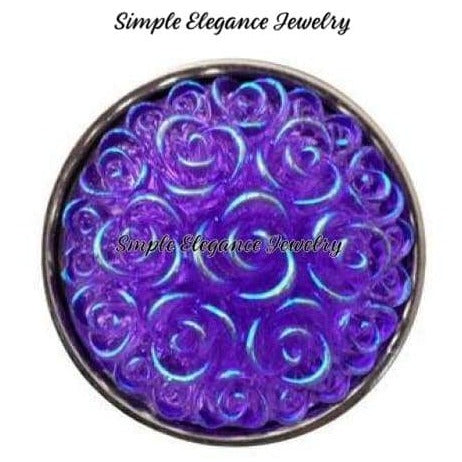 Acrylic Rose Snap 18mm for Snap Jewelry - Purple - Snap Jewelry